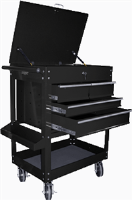 K Tool International 75145 4 Drawer Heavy Duty Service Utility Cart - Black