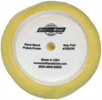 "Buff and Shine 7550G 7-1/2"" Wool Blend Polishing/Finishing Pad"