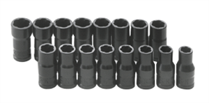 SK Hand Tools 756 16 Pc. SAE/Metric Standard TurboSocket Set, 1/4""