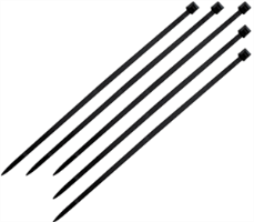 "K Tool International 78070 Cable Ties, 7 "" 100 Pack - Black"