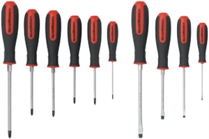 Gearwrench 80060 10 Pc. Combination and Pozidriv® Screwdriver Set