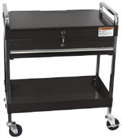Sunex 8013ABK 350. lb. Service Cart w/ Locking Top & Drawer, Black