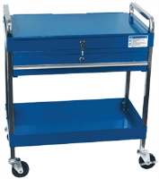 Sunex 8013ABL 350. lb. Service Cart w/ Locking Top & Drawer, Blue