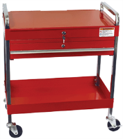 Sunex 8013A 350. lb. Service Cart w/ Locking Top & Drawer, Red