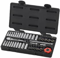 "Gearwrench 80300 51 Pc. 6 Pt Socket Set SAE/METRIC - 1/4"" Drive"