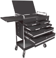 Sunex 8045BK Professional Duty 5 Drawer Service Cart, Black
