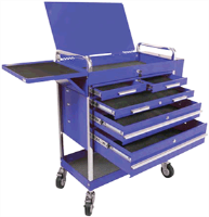 Sunex 8045BL Professional Duty 5 Drawer Service Cart, Blue