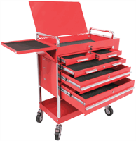 Sunex 8045 Professional Duty 5 Drawer Service Cart, Red
