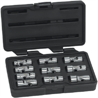 Gearwrench 80565 10 Pc. 6 Pt Flex Socket Set-METRIC