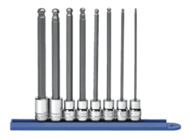 Gearwrench 80573 8 Pc. Long Ball Hex Bit Socket Set-METRIC
