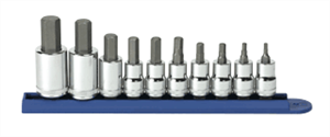 Gearwrench 80578 10 Pc. Hex Bit Socket Set-METRIC