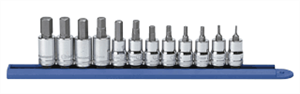 Gearwrench 80580 12 Pc. Hex Bit Socket Set-METRIC