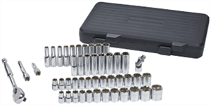 Gearwrench 80700 49 Pc. 6pt. Socket Set-SAE/METRIC