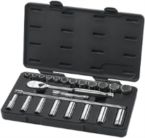 Gearwrench 80707 23 Pc. 6 & 12 Pt. Socket Set-SAE