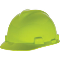 MSA 815558 V-Gard® Standard Cap w/Staz-On, Lime Green