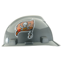MSA 818412 V-Gard® Hard Hat w/1-Touch®, Tampa Bay Buccaneers