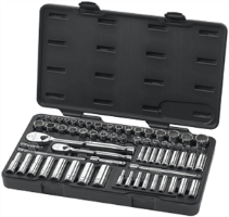 Gearwrench 83000 68 Pc. 6 & 12 Pt Socket Set-SAE/METRIC