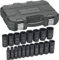 "Gearwrench 84934 19Pc. 1/2"" Dr. Deep Impact Socket Set"
