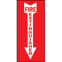 "Brady 85261 ""Fire Extinguisher"" w/Arrow Sign, 14""H x 3 1/2""W"