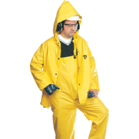 North Safety 85JPH Series 3 Pc. Flame Retardant Rainsuit, Yellow, L