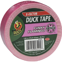"Duck Brand 868088 Duct Tape 1.88"" x 15 yd, Funky Flamingo Pink"