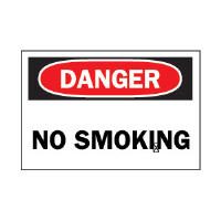"Brady 88370 ""Danger: No Smoking"" Sign, 7"" x 10"", Polyester, B-302"