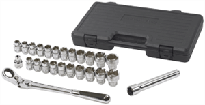 "Gearwrench 891226 25 Pc. 1/2"" Drive Pass-Thru Ratcheting Set-SAE/Metric"