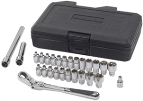 "Gearwrench 891427 27 Pc. 1/4"" Drive Pass-Thru Ratcheting Set-SAE/Metric"