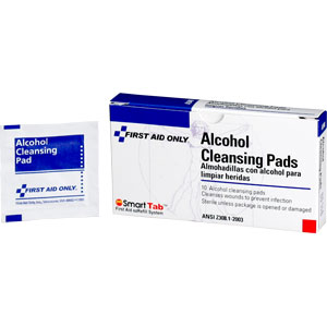 First Aid Only A340 Alcohol Cleansing Pads, 10/Box