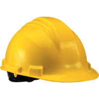 North Safety A79020000 Peak Series Hard Hat, Yellow