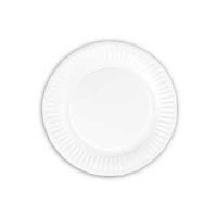 "AJM Green Label PP9GRAWH White Uncoated Paper Plates, 9"", 1200/Cs."