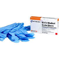 First Aid Only AN5011 Nitrile Medical Grade Gloves (Latex Free), 2 Pair