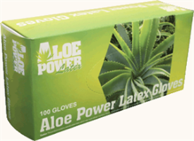 Aloe Power APL-L 7 mil Thick Aloe Power Latex Glove, Large