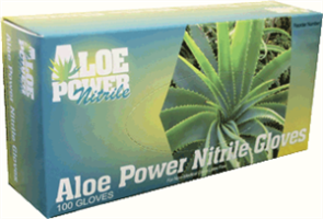 Aloe Power APN-L 5.5 mil Thick Aloe Power Nitrile Gloves, Large