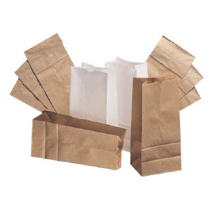 Duro Paper Bags GW16-500 White Paper Bags, 16#