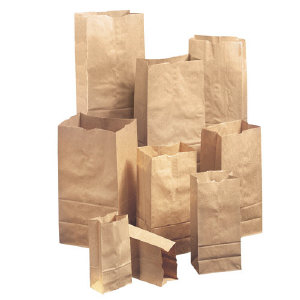 Duro Paper Bags GX5-500 Heavy Duty Brown Paper Bags, 5#