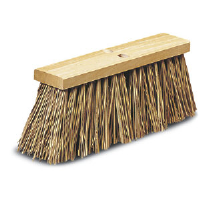 Pro Line Brush 7316 Brown Plastic Street Sweep Broom, 16""