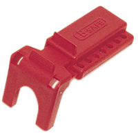 "North Safety BS01 B-Safe® Ball Valve Lockout, 3/8"" to 1-1/4"", Red"