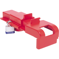 North Safety BS04 B-Safe® Ball Valve Lockout, Universal Butterfly, Red