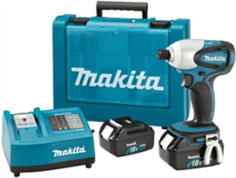 "Makita BTD140 18V LXT Lithium-Ion 1/4"" Impact Driver Kit"