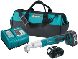 "Makita BTL063 18V LXT Lithium-Ion Cordless 3/8"" Angle Impact Wrench Kit"