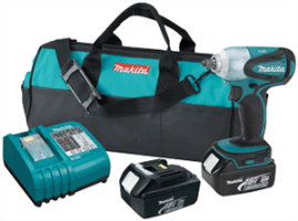 "Makita BTW253 18V LXT Lithium-Ion Cordless 3/8"" Impact Wrench Kit"
