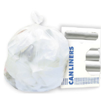 Boardwalk 385822 High-Density 22 Micron Clear Can Liners, 150/Cs.
