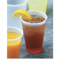 Boardwalk YE-160 Translucent Plastic Cups, 16 Ounce, 12/80