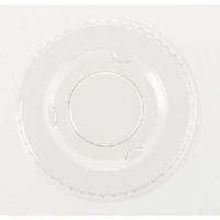 Boardwalk YLS-1FR Clear Portion Cup Lids for .50-1 Ounce
