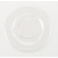 Boardwalk YLS-2FR Clear Portion Cup Lids for 1.5 - 2.5 Ounce