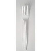 Boardwalk YPH-FW Heavyweight Polystyrene White Forks, 1000/Cs.