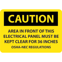 "National Marker C115P Caution Electrical Panel Sign,7x10"", Vinyl"