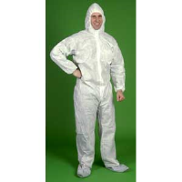 Lakeland C8414 SafeGard® SMS Coverall - Zip, Elast. Wrist/Ankle/Hood/Boot, 25/Cs. M