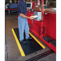 Crown Matting CD0035YB Industrial Deck Plate 500 Mat, 3'x 5'
